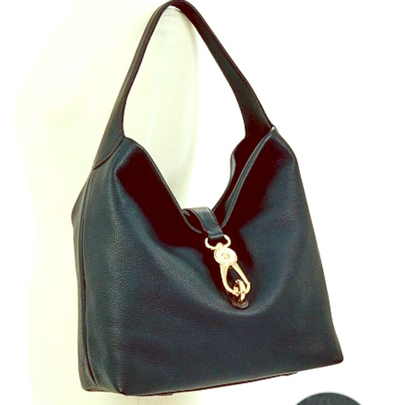 Dooney & Bourke Handbags - Dooney & Bourke Large Black Leather Hobo